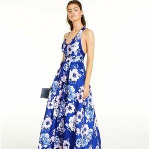 City Studios Juniors' Allover-Floral Gown
